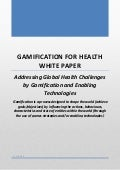 Gamification for Health White Paper