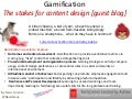 Gamification: The stakes for content design