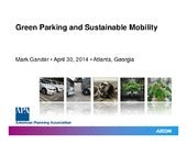 Green Parking and Sustainable Mobli...