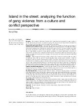 Island In the Street: Analyzing the...