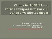 Gangs in the military: Forces consp...