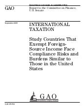 GAO 09 934 International Taxation  ...