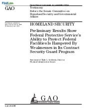 FindLaw | GAO Homeland Security Rep...