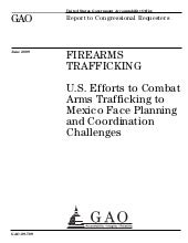 GAO Report on Arms Trafficking