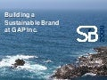 GAP Inc Environmental Sustainability and Building a Credible Brand