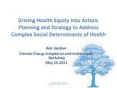 Driving Health Equity into Action: ...