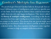 Gardner's multiple intelligences