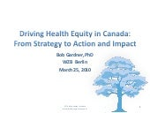 Gardner wzb health equity strategy ...