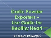 Garlic Powder Exporters – Use Garli...