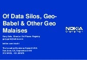 Of Data Silos, Geo-Babel & Other Ge...
