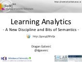 Learning Analytics - A New Discipli...