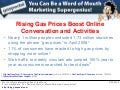 Word of Mouth Marketing Research: Rising Gas Prices Boost Online Conversation and Activities