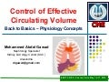 Effective Circulating Volume Control
