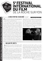 Gazette 3 Festival international du film de la roche sur yon