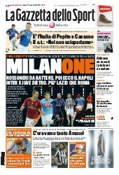 Gazzetta 2-9-2011 Serie A Streaming