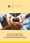 Membership Brochure of Global Compact Network India