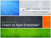 AgileCamp 2014 Track 6: What Means to Coach an Enterprise
