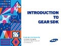 Introduction to Samsung Gear SDK