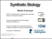 Computational Synthetic Biology