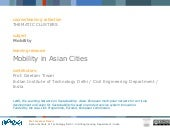 Geetam Tiwari_Mobility In Asian Cities