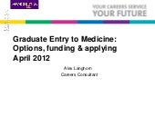 Graduate Entry to Medicine - option...