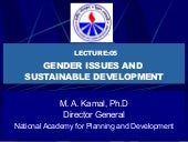 Gender issues&sustainable developme...