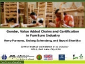 Gender, value added chains, and certification in the furniture industry