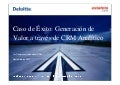 Generacion de valor a traves de CRM analitico
