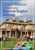 Oxford Brookes University Summer English courses 2011
