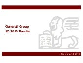 Generali Group 1Q 2010 results