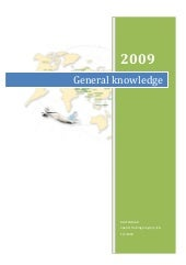 General knowledge 2009 (table format)
