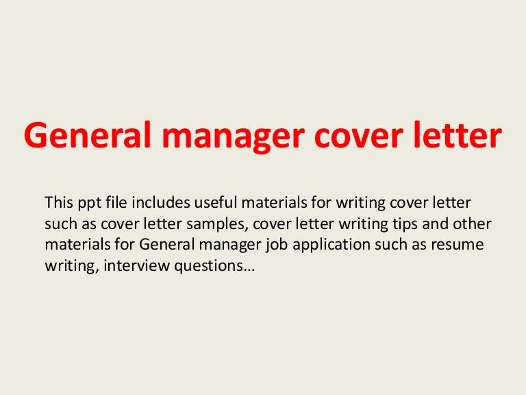 general manager cover letter. resume cover letter customer ...
