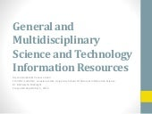 General & Multidisciplinary Science...