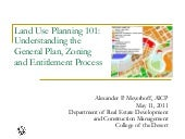 General Plan, Zoning And Entitlements