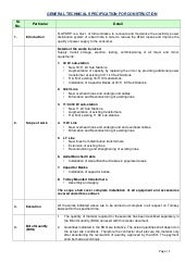 General technical specification for...