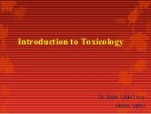 Introduction to General toxicology
