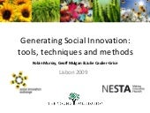 Generating  Social  Innovation, Too...