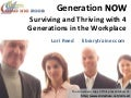Generation Now: Surviving and Thriving With 4 Generations in the Workplace