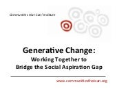 Generative Change: Working Together...