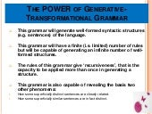 Generative grammar power point pres...
