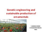 Genetic engineering and sustainable...