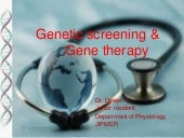 Genetic screening & gene therapy