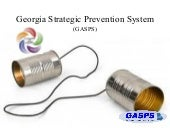 Georgia strategic prevention system...