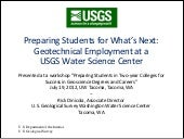 Geotechnical Employment at a USGS Water Science Center