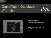 Gephi Plugin Developer Workshop