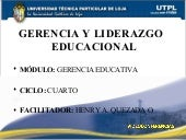 Gerencia Educativa