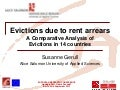 Evictions Due to Rent Arrears: A Comparative Analysis of Evictions in 14 Countries