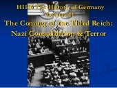 The coming of the third reich - terror