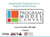 Gestão de Programas com o Program Model Canvas