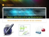 Gestion Editoriale Online Modedemploi